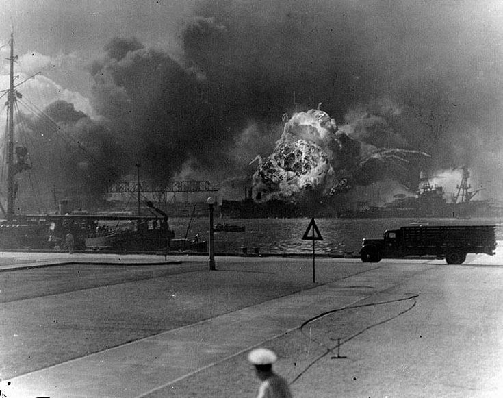 Photo of USS Shaw goes up in flames