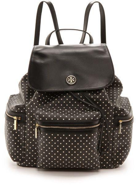 Love this:Tory Burch  Kerrington Flap Backpack Black Viva Dot Mini