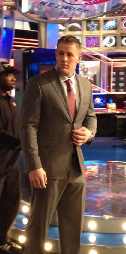 JJ Watt of the HOUSTON TEXANS. Everyone loves a handsome man in a suit.