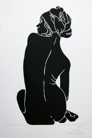 "Saatchi Art Artist A Weyer; Printmaking, ""Helene - Limited Edition 2 of 10"" #art"