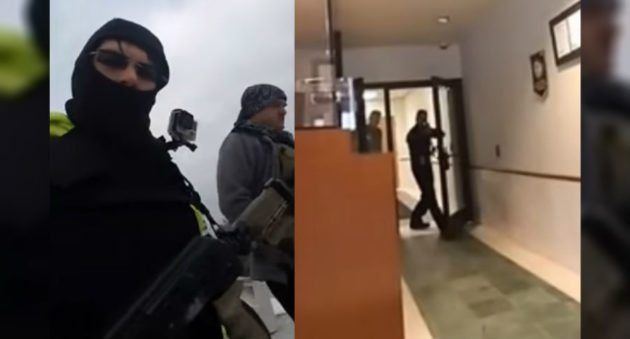 Bizarre News of the Week: Amed Men in Masks Enter Police Station to 'File a Traffic Complaint'