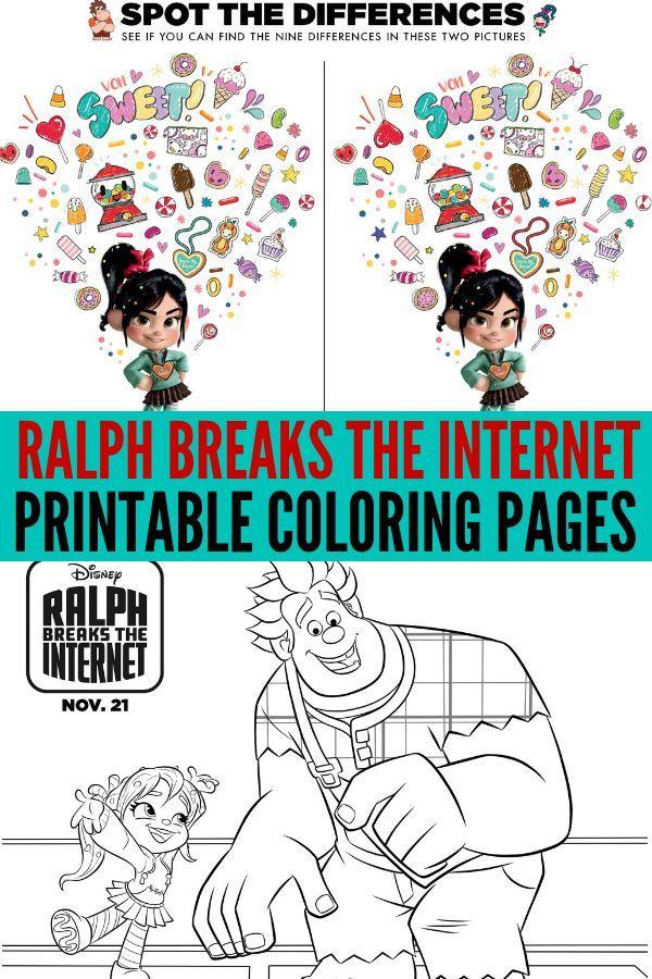 Páginas Para Colorear de Ralph Breaks The Internet (Ralph Rompe ...