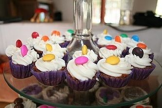 Thumbtip-size cupcakes.  Mini delights for tiny tots.