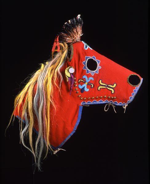 centuriespast:  Nez Perce Horse Mask 1875-1900 Fenimore Art Museum