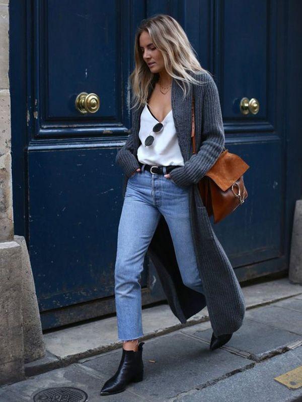 | Look Confortável - Cardigan Oversized + Calça Cropped + Bota de Cano Curto |