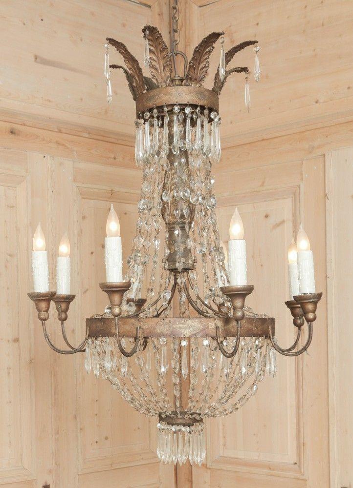 Antique Store Online ~ Belle Brocante ~ www.inessa.com ~ 18th Century Italian Chandelier - Inessa Stewart's Antiques