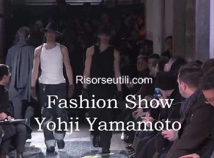 Fashion show Yohji Yamamoto fall winter 2016 2017 menswear