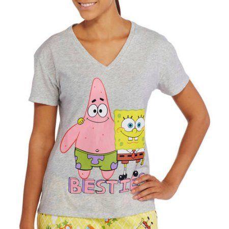 Nickelodeon SpongeBob Juniors Sleepshirt, Gray