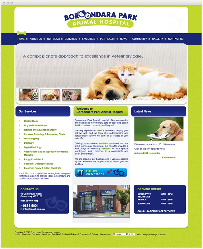 Canterbury Vet Animal hospital offers excellence in veterinary care to dogs and cats. With experienced Vet surgeons they provide pet emergency services, veterinary medicine, pet surgery, pet nutrition advice and are the best Vet Canterbury.