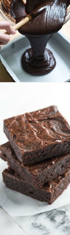 How to make Brownies from scratch that are better than the box. Easy chocolate brownie recipe with cocoa powder, butter, eggs, and sugar.