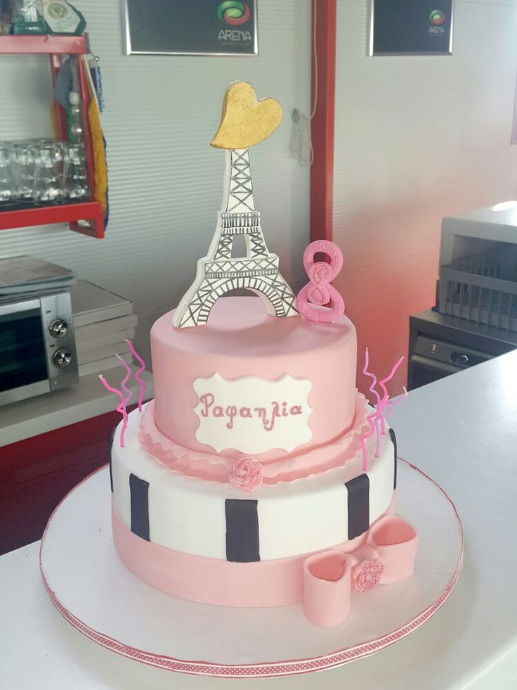 Eiffel tower fondant cake Custom Homemade Cakes