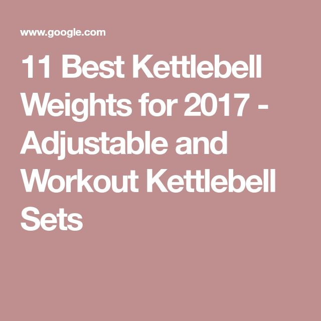 11 Best Kettlebell Weights for 2017 - Adjustable and Workout Kettlebell Sets
