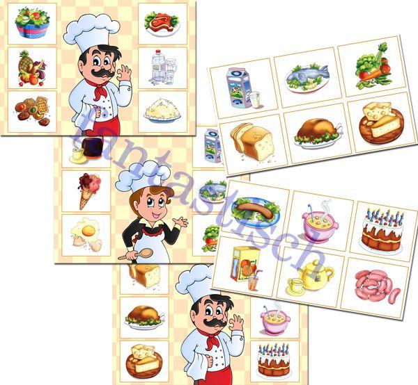 Играем до школы: Лото для детей Веселые повара