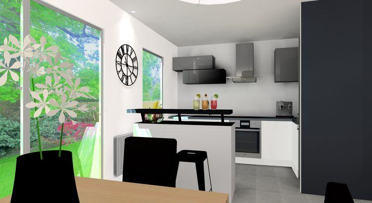 Simulation 3D cuisine pour clients, @secretsdeco
