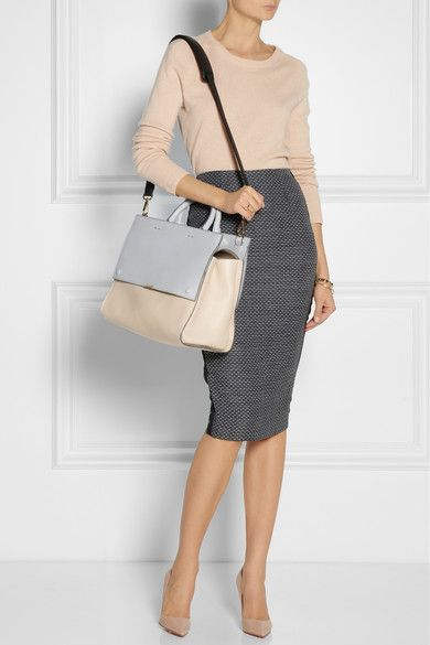 pastel + charcoal pencil business casual - chic office style professional fashion
