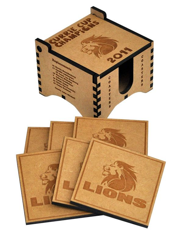 Lions Rugby Coasters