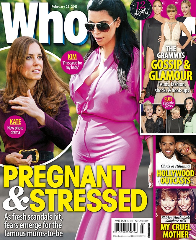 This Week's WHO: Kim Kardashian and the Duchess Of Cambridge: Pregnant & Stressed
