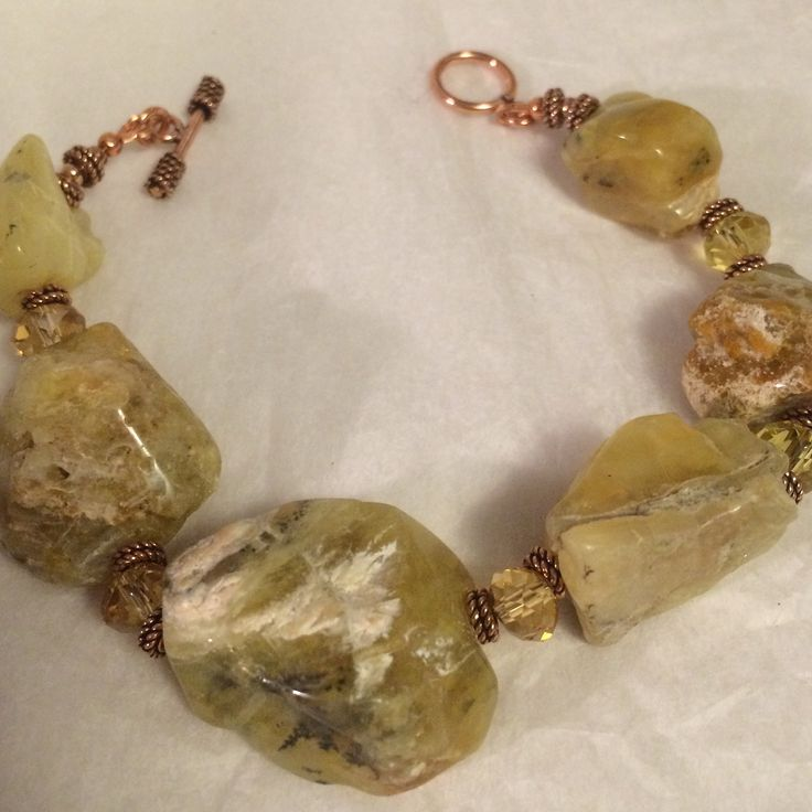 Rough cut citrine bracelet