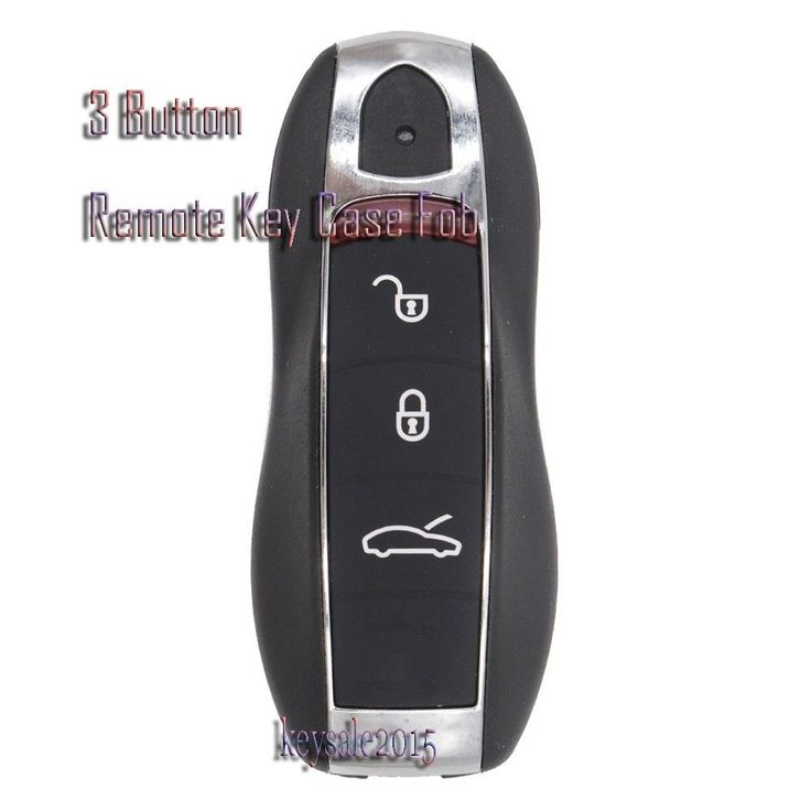 New Smart Remote Key Shell Case Fob 3 Button+Uncut Blank Blade for Porsche 911(2010) Targa(2008) Cayenne(2012-2014) With Logo