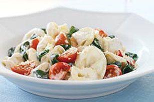Creamy Restaurant-Style Tortellini recipe.Creamy Restaurantes Styl, Tortellini Pasta, Kraft Recipe, Fruit Salad, Creamy Tortellini, Tortellini Recipe, Restaurantes Styl Tortellini, Restaurantstyl Tortellini, Creamy Restaurantstyl