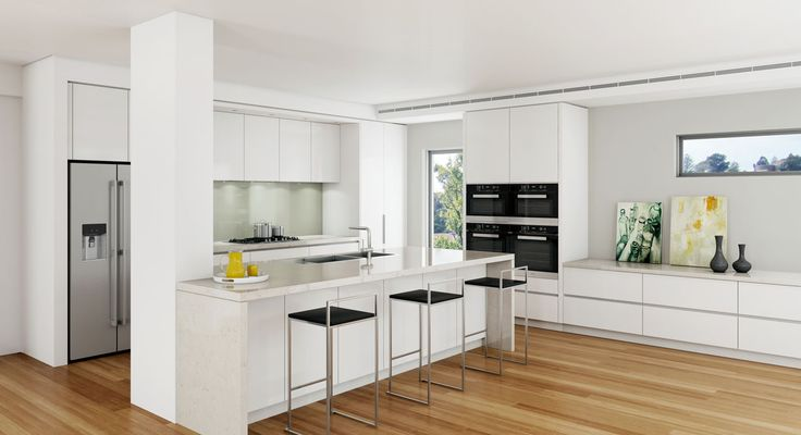 Kitchen concept, featuring new Miele 6000 Ovens. #DanKitchensAus