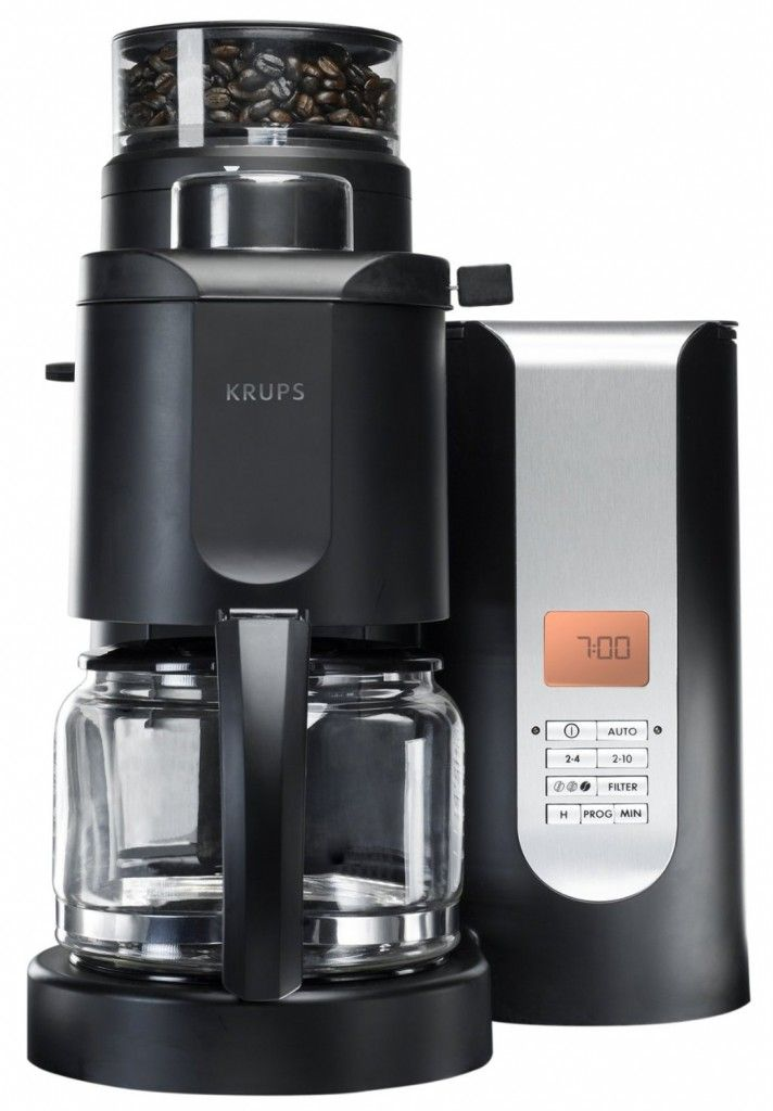 Coffee Makers with Grinder for Simplicity of Life : KRUPS KM700552 Coffee Makers With Grinder Stainless Steel Conical Black