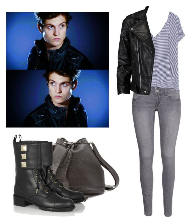 """""""Isaac Lahey - tw / teen wolf"""" by shadyannon ❤ liked on Polyvore featuring H&M, Zara, VIPARO, Charlotte Russe and Valentino"""