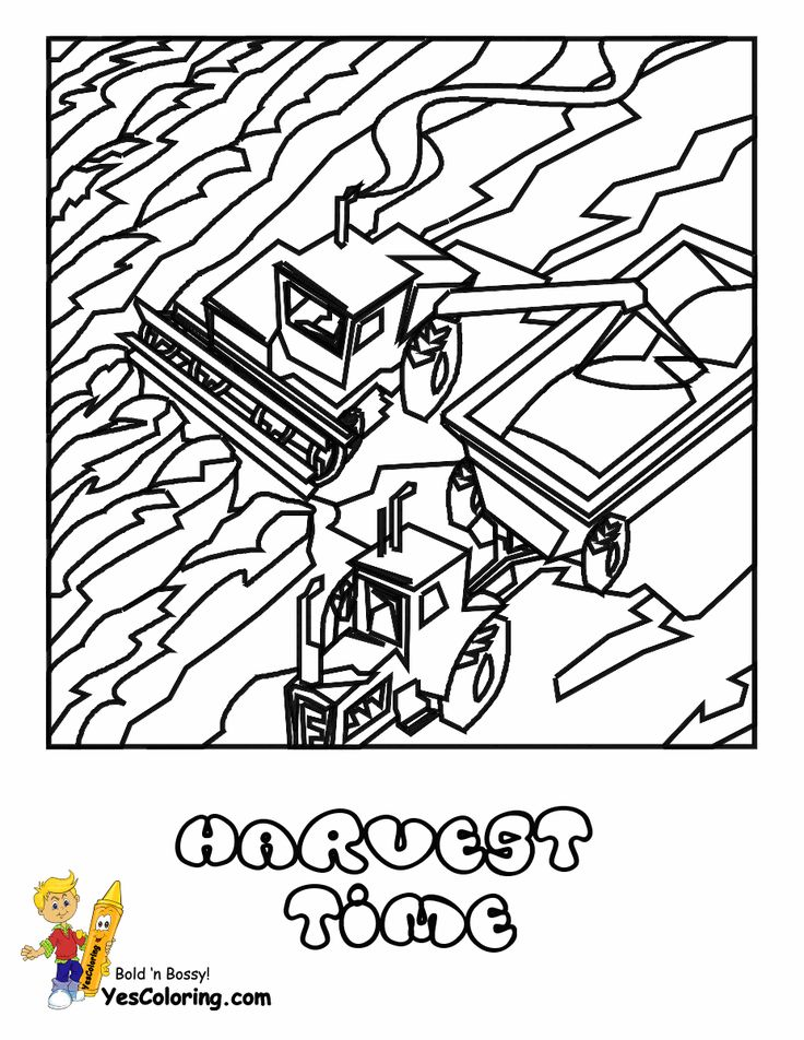combine coloring pages - 27 best images about gritty tractor coloring pages on