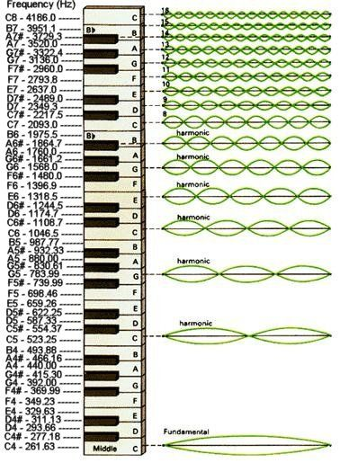 Musical Scale, wavelengths, fundamental frequencies