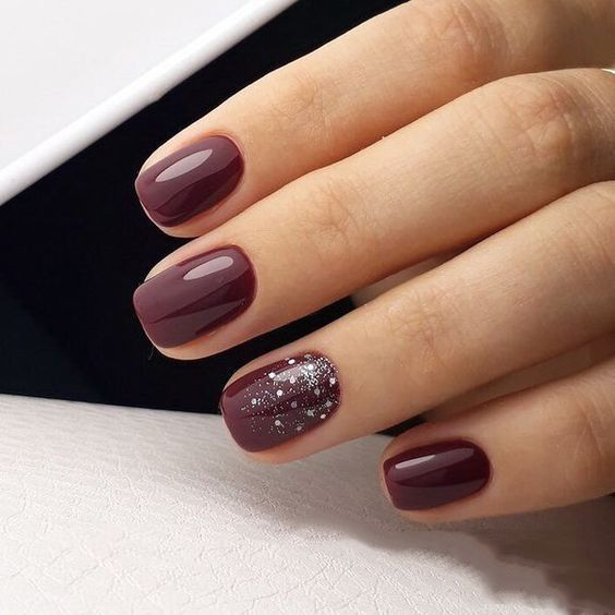 30 Stunning Burgundy Nails Designs That Will Conquer Your Heart Diy Beauty Nails Dark Nail