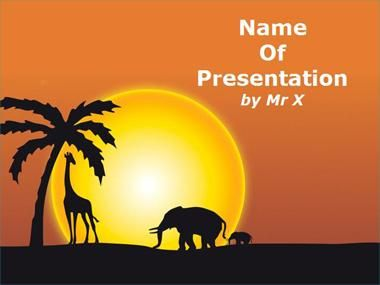 Sunset in Africa Powerpoint Presentation Template