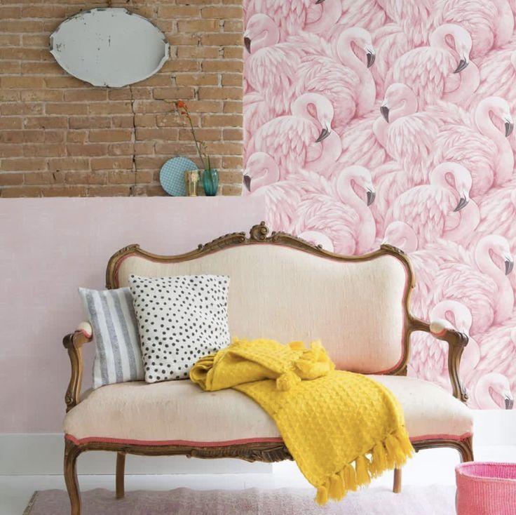 Inspiration Flamingo Jennifer Rasch Tapeten Collection Lucy In The Sky Le Papi Tapeten Ideen Haus Deko Wohnzimmer Inspiration Flamingo Tapete