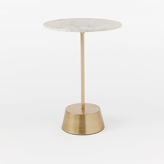 """Maisie Side Tables / Size: Short: 18""""diam. x 18""""h / Cost: $159 / Availability: In stock as of 06.19"""