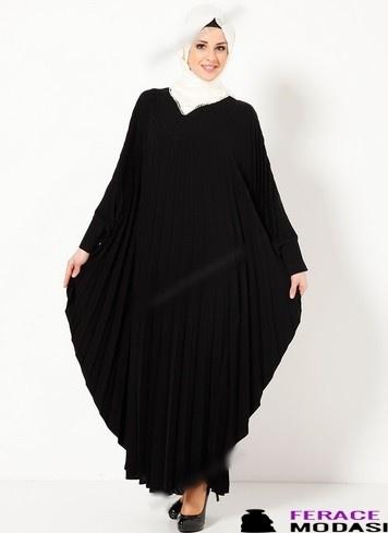 Taş Detaylı Elbise Ferace Modelleri
