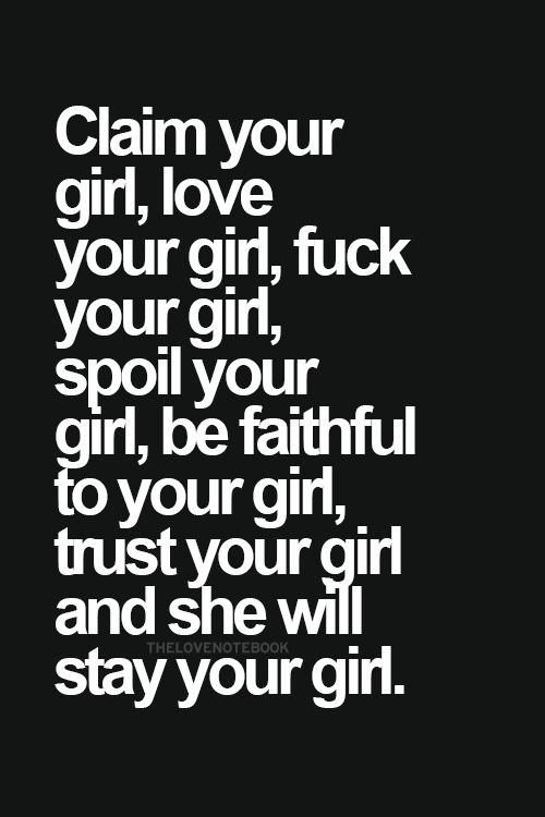 If everytime you hear she's your girl and smile... then she is your girl