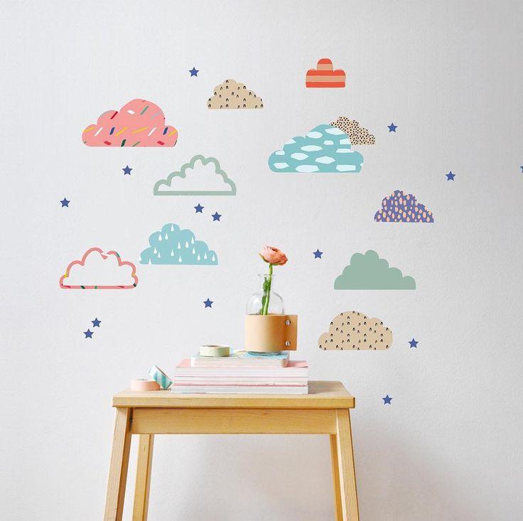 [JOURNEE PLUVIEUSE 🌧] On réchauffe nos cœurs avec ces magnifiques stickers ☁️😻 Clap, clip, clap, quand le ciel se voile,   Ton gaï refrain met du bleu dans le cœur   Clap, clip, clap, giboulée d'étoiles   Peint l'arc-en-ciel aux couleurs du bonheur   Comme elle est jolie ta musique 🎶   #stickers #nuage #cloud #colors #decoration #kidsroom #chambreenfant #homedecor #baby #kids #children #instakids #mimilou #mimilouparis #paris #madeinfrance