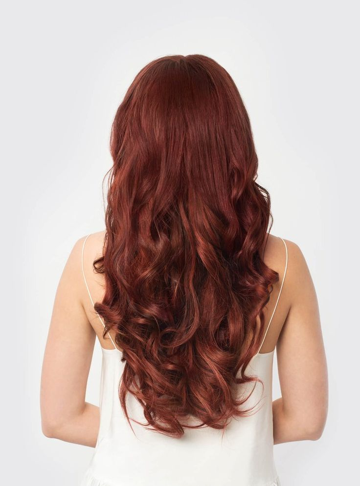 Vibrant Auburn is a unique red shade with sienna and firebrick color undertones. Instantly transform your hair with Vibrant Auburn clip-in Luxy Hair extensions and feel more confident with thicker, lo