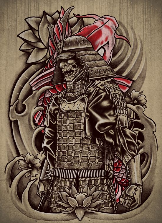Samurai Koi Art Print                                                                                                                                                                                 Más