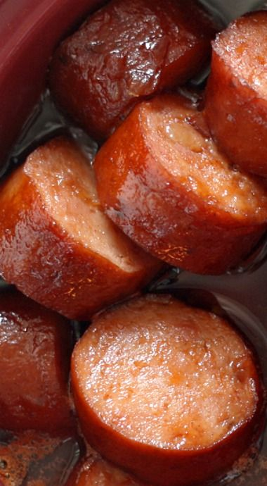 Slow cooker sweet and spicy sausage