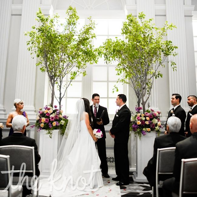Wedding Altar Curtains: Indoor Tree Altar - Bringing In