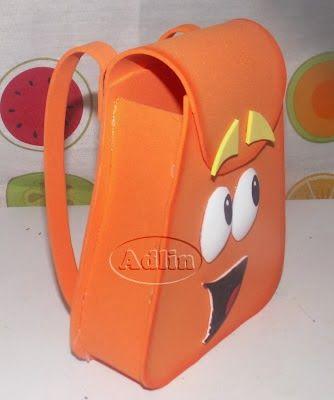 Molde de mochila da Dora Aventureira - Dicas pra Mamãe
