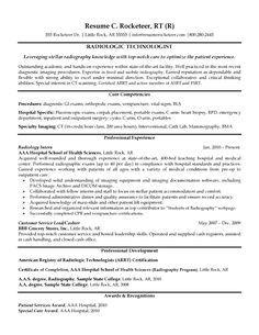 x ray technician resume