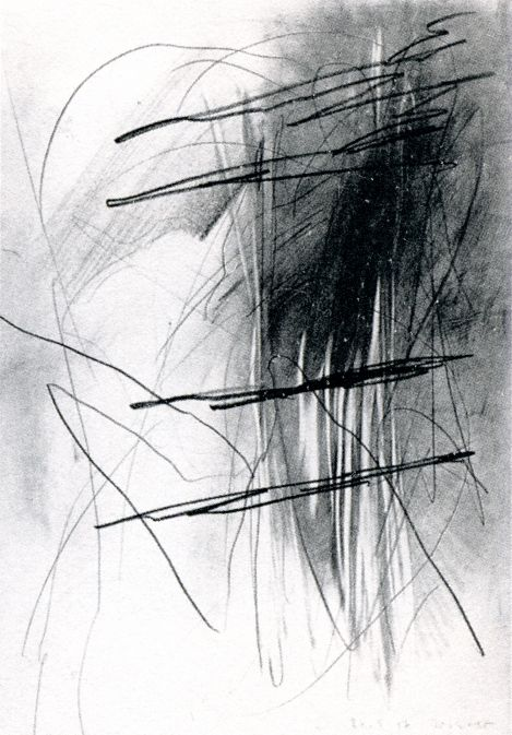 graphite on paper -by Gerhard Richter