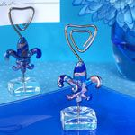 Murano Glass Fleur De Lis Place Card Holder