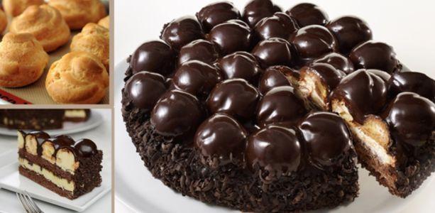 La+ricetta+della+torta+profitterol,+il+dolce+che+vi+farà+impazzire