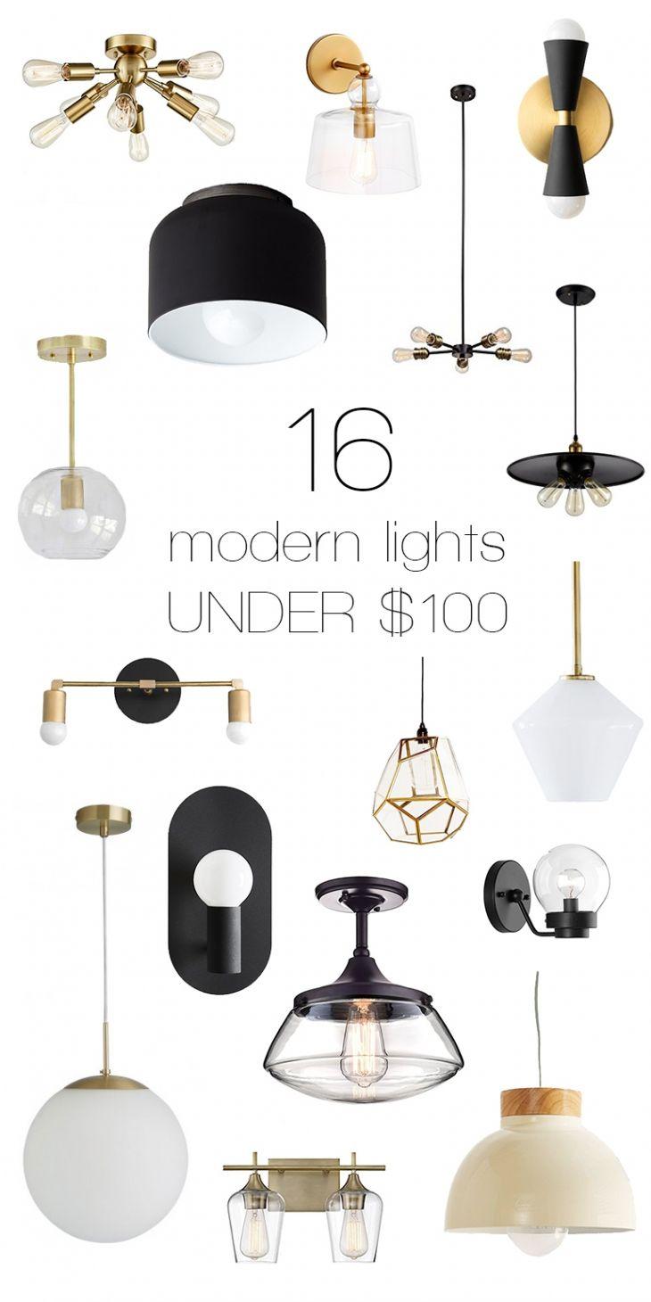 16 Modern Lights For Under 100 Modern Lighting Living Room