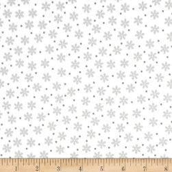 Kaufman Cozy Cotton Flannel Daisies White