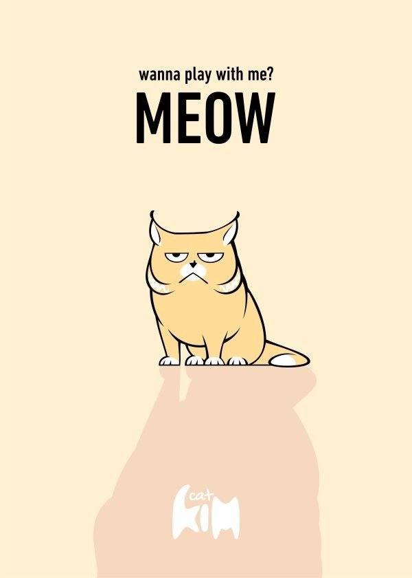 Kim Cat Meow printed on metal #poster .   Available on Displate https://displate.com/displate/91194