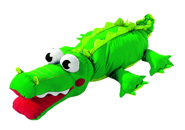"""""""Kevin the Crocodile"""" Giant Floor Cushion from #Wesco. Perfect for any #playroom or child's bedroom!"""