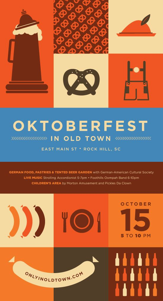 Oktoberfest | Grafik | Design | Bier | Brezel | Wurst | Bratwurst